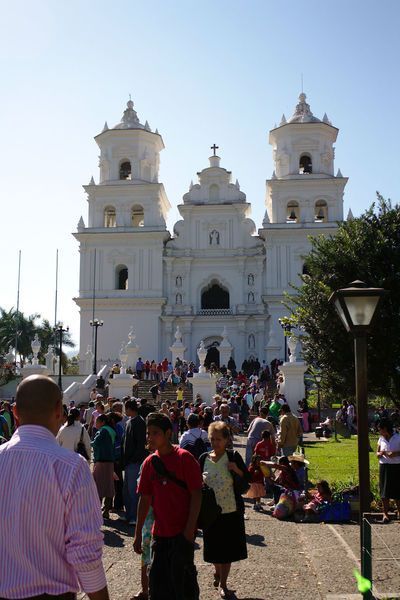 Back Light Back Lit Backlight Backlighting Catholic Catholic Church Catholic Faith Catholicism Church Colonial Architecture Day Large Group Of People Outdoors Park Place Of Worship Place Of Worship Religion Religion And Beliefs Religious Architecture Religious Icons Spirituality Travel Travel Destinations Church Tower Basílica Del Cristo Negro