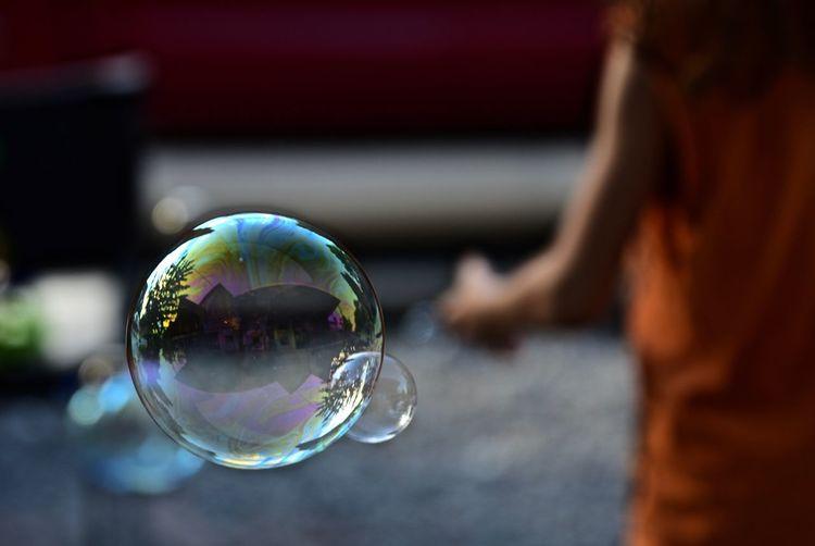 Close-up of bubble bubbles