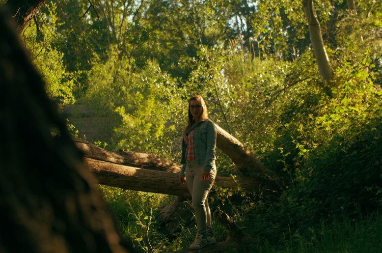 Brown Hair Day Nature Sunlight Women Forest Only Women