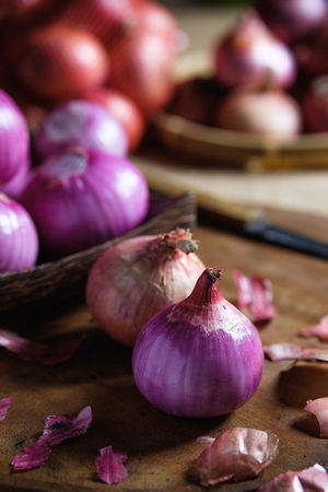 Close-up Common Beet Focus On Foreground Food Food And Drink Freshness Garlic Garlic Clove Healthy Eating Indoors  Ingredient Onion Pink Color Purple Raw Food Selective Focus Spice Still Life Table Vegetable Vegetarian Food Wellbeing