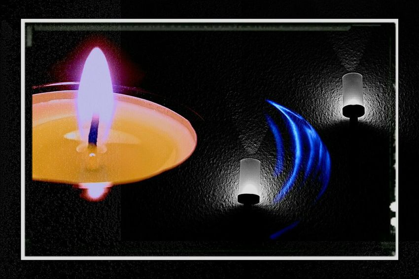 Begegnung im Dunkeln Colorful :-) Black And White Photography Enjoying Life Relaxing Night Lights