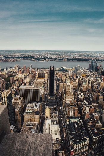 Architecture Cityscape Building Exterior Built Structure Skyscraper Sea City Sky High Angle View Travel Destinations Water Horizon Over Water Aerial View Outdoors Day No People Tall Nature New York
