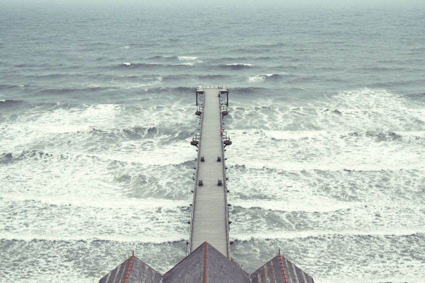 Empty | Pier Empty Tranquility Sea Waves Seaside Cold Taking Photos Overcast Outdoors The Great Outdoors - 2016 EyeEm Awards The Great Outdoors With Adobe Exploring Landscape Foggy Morning Eye4photography  EyeEm Gallery Water