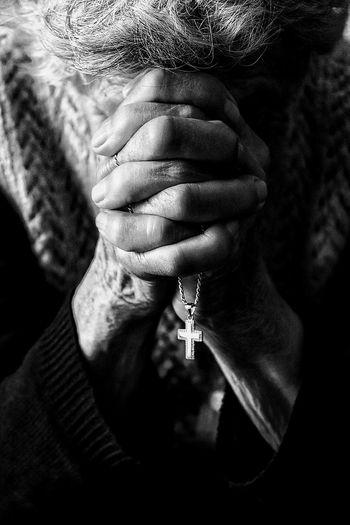 Close up of woman praying