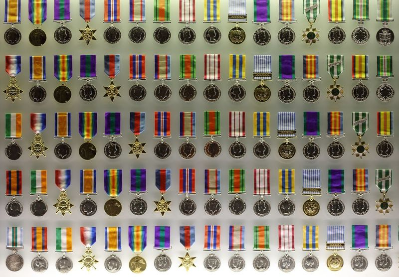 WW1 military service & campaign medals on display at the Melbourne Shrine of Remembrance. A architectural monument which reflects on the past human conflicts & ultimate sacrifice made by so many. Act Of Valor Campaign Medals Close-up Eye4photography  EyeEm Gallery EyeEmNewHere Focus On Detail Full Frame History Indoors  Light And Shadow Memorial Military Service Award Military Service Medals Multi Colored Multi Coloured No People Personal Reflection Public Display Sacrifice Service Medals Shrine Of Remembrance Variation WW1 Soldiers