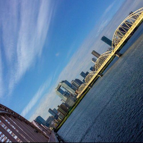 Good morning! Osaka is the morning 淀川