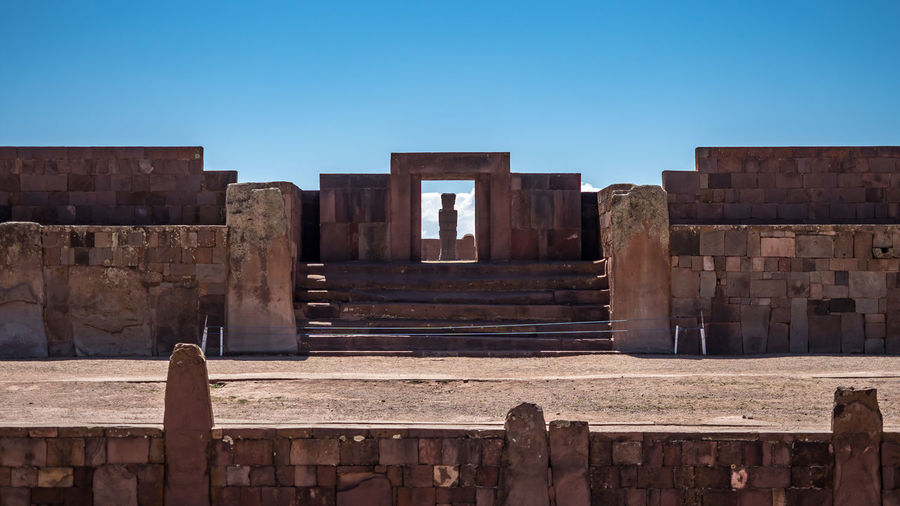 Archeological site in la paz, bolovia