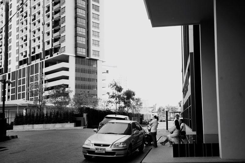 Urban Architecture Streetphoto_bw Street Photography Blackandwhite EyeEm Thailand Built Structure Lifestyles Modern Community