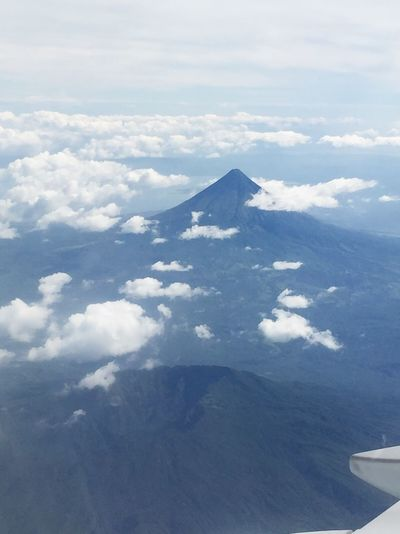 Legazpi City Mayon Volcano Philippines Mayon Volcano Daraga, Albay Philippines Nature Nature Lover Volcano Clouds Clouds And Sky Aerial Shot Aerial View Eye4photography  It's More Fun In The Philippines!