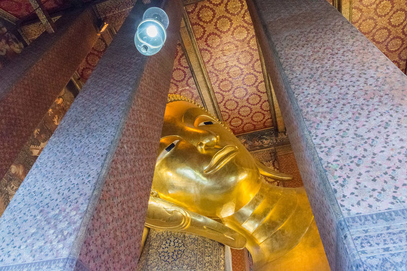Bangkok Bangkok Thailand Bangkok Thailand. Buddha Architecture Art And Craft Belief Buddhism Buddhist Temple Building Ceiling Creativity Gold Colored Human Representation Idol Indoors  Low Angle View Male Likeness No People Place Of Worship Religion Representation Sculpture Spirituality Statue