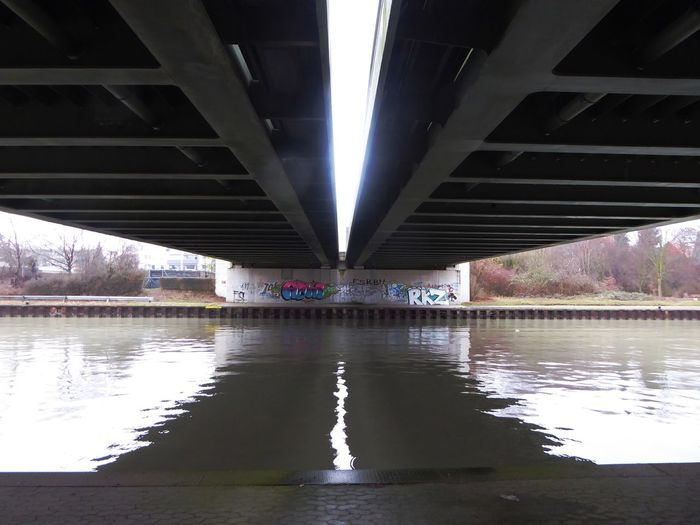 Rainy weather😎there are worse things in life! Enjoyinglife  Under a bridge Reflection Built Structure Bridge - Man Made Structure Tranquil Scene Tranquility Am Mittellandkanal In Hannover For My Friends 😍😘🎁 No People Greyskys Beauty On A Rainy Day😍