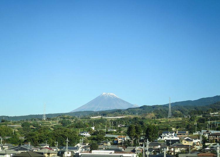 Train Window Blue Sky EyeEm Best Shots Sky Collection Mt.Fuji Beautiful View Beautiful Sky at 新幹線 , Shizuoka Japan