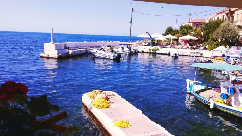 Sea Breakfast Seatime Colors Greece Relaxing Time