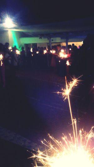 Bokeh Lights Light And Shadow Firework Make Way Happy Night
