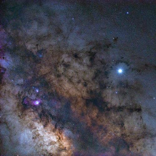 Full frame shot of sky at night