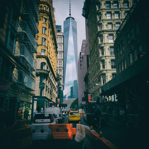 Architecture Building Exterior Built Structure Car City City Life Skyscraper Street World Trade Center New York