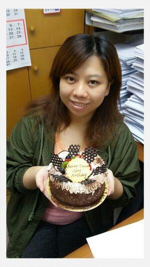 Birthday cake & me(≧∇≦)