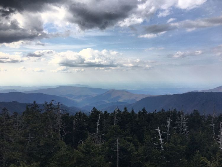 Mountains Clouds And Sky Nature Mountain Range Appalachian Mountains Appalachian Trail Landscape Clingmans Dome Tennessee North Carolina Hiking Hiking Photography Photography Travel Photography Nature Photography Smoky Mountains