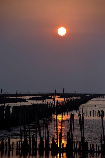 Water Moon Sunset Astronomy Illuminated Reflection Sky Landscape