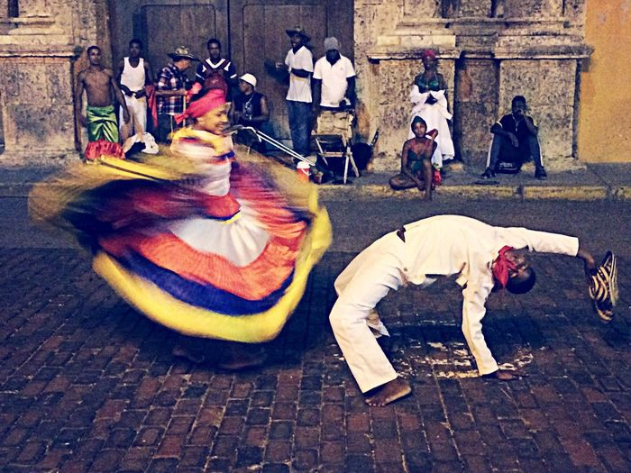 Authentic Moments In this picture we can see a traditional dance of Colombia called Cumbia. First Eyeem Photo