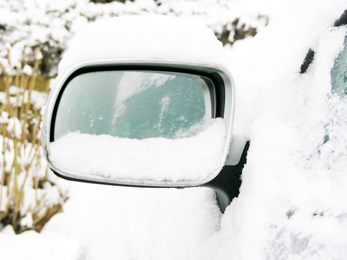 Side-view mirror of a car in a frosty winter Cleaning Morning View Winter Wintertime Car Cold Cold Temperature Day Forecast Frost Frosty Frozen Germany Ice Icicle Safety Save Side-view Mirror Snow Snowing Transportation Weather Weather Report Winter