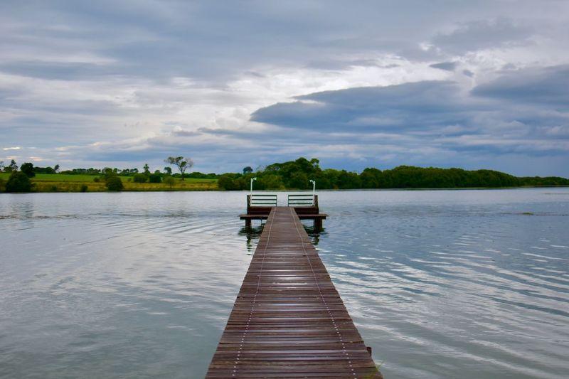 Wood pontoon