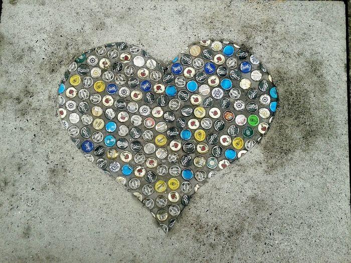 Streetart Taking Photos Heart ❤ Beercaps Kopenhavn The Following Beautifully Organized Art Is Everywhere