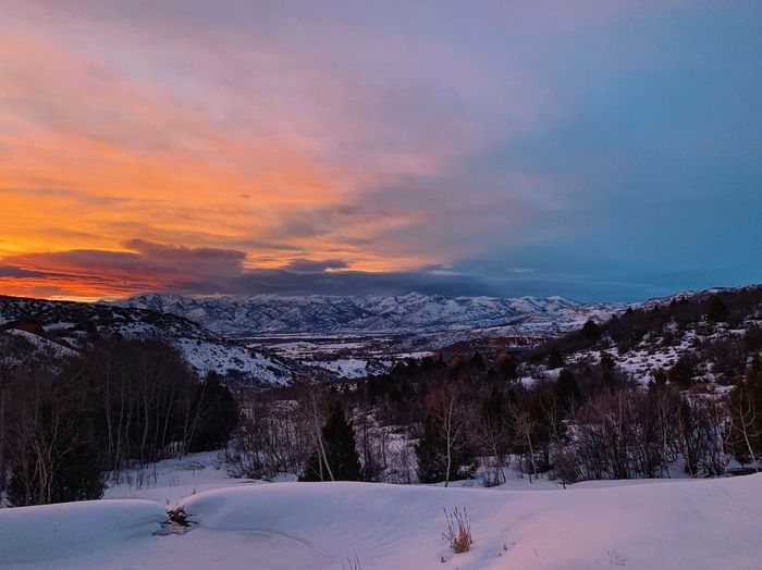 all the colors tonight. Wasatch County Wasatch Mountains Utah Snow Winter Cold Temperature Sky Sunset Beauty In Nature Scenics - Nature