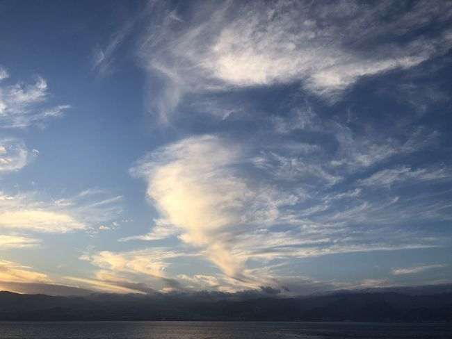 Cloud - Sky Sky Beauty In Nature Scenics - Nature Tranquility Tranquil Scene Water Sea No People Nature Idyllic Horizon Waterfront Non-urban Scene Outdoors Horizon Over Water Day Sunset Himmel Und Wolken Wolkenbilder Wolkenkunst Sonnenuntergang