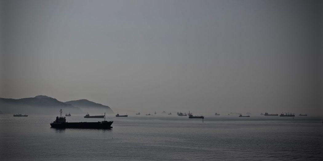 Ship Ships Sea Seafog Vessel Vessels Panoramic