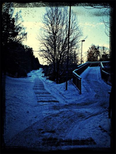 Blue sky and snow...