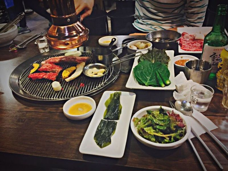 Food Freshness Koreanfood Dinnertime Friend Delicious Koreandrink Soju South Korea