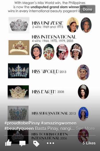 Filipina Beauty : International Beauty Pageant Power House!