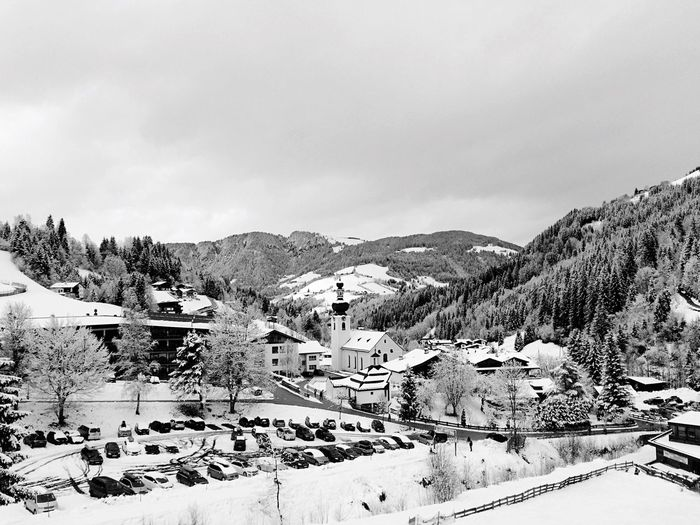 Holiday Snow Snow ❄ Skiing Blackandwhite Black & White Black And White Blackandwhite Photography Showcase: February Mountains Church IPhoneography Auffach Skilift Village Original Experiences