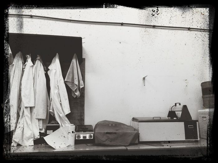 Abandoned & Derelict Lab Equipment Forgotten Black And White