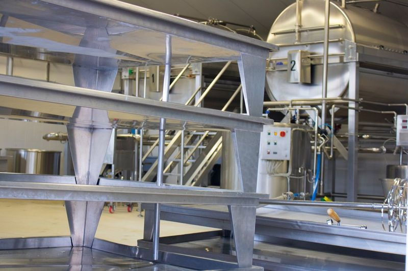 Cheesefactory Indoors  No People Factory Manufacturing Equipment Technology Day Hygiene Close-up Manufacturing Cheese Mozzarella