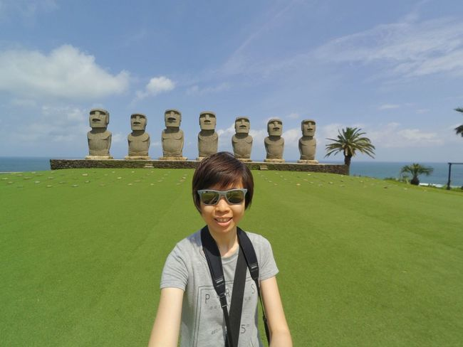Aloha! Behind me are the Moai statues & Pacific Ocean...The only place outside Easter Island granted the rights to have these UNESCO statues, at Sun Messe! Natural Light Portrait Landscape Landscape_Collection Park That's Me Travel Travel Photography Japan Rayban Sunglasses Feel The Journey EyeEm Best Shots Statues Under The Sun Sunlight 43 Golden Moments Showcase June From My Point Of View