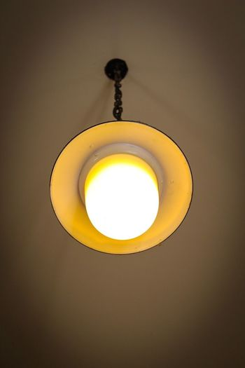 Lighting Equipment Illuminated Electricity  Hanging Light Bulb Indoors  No People Yellow Low Angle View Close-up Day