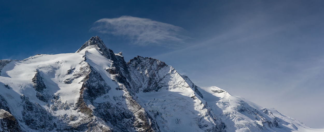 Scenic view of snowcapped mountains against sky - grossglockner panorama