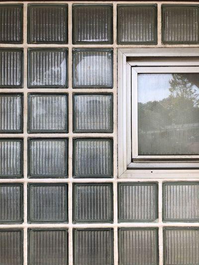 Full frame shot of building window