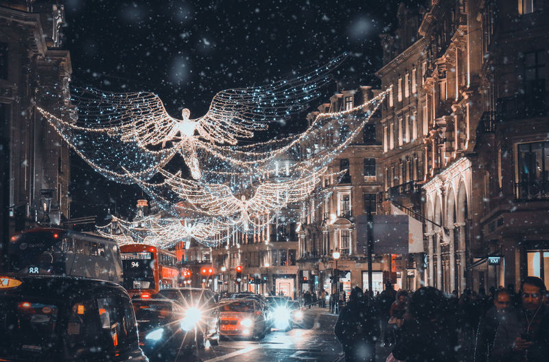 City of the lights London Architecture Building Building Exterior Built Structure Celebration Christmas Christmas Lights City Cold Temperature Decoration Illuminated Light Motion Nature Night Outdoors Snow Snowing Street Transportation Uk Winter The Street Photographer - 2018 EyeEm Awards