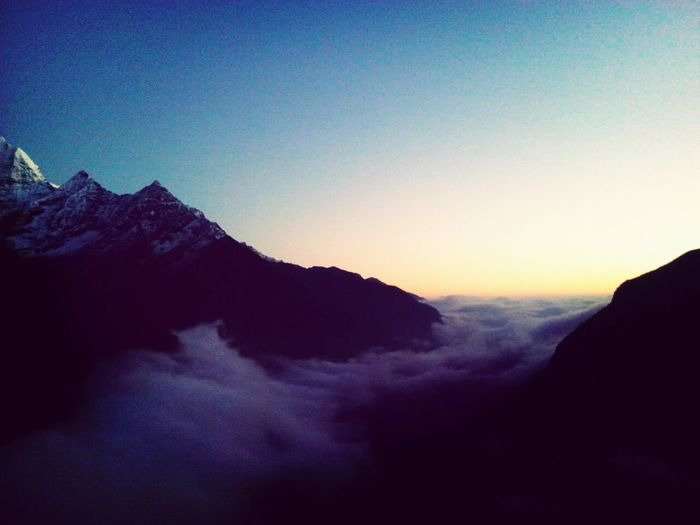 living Above The Clouds . Sunset And Clouds  Beautiful View Enjoying Nature