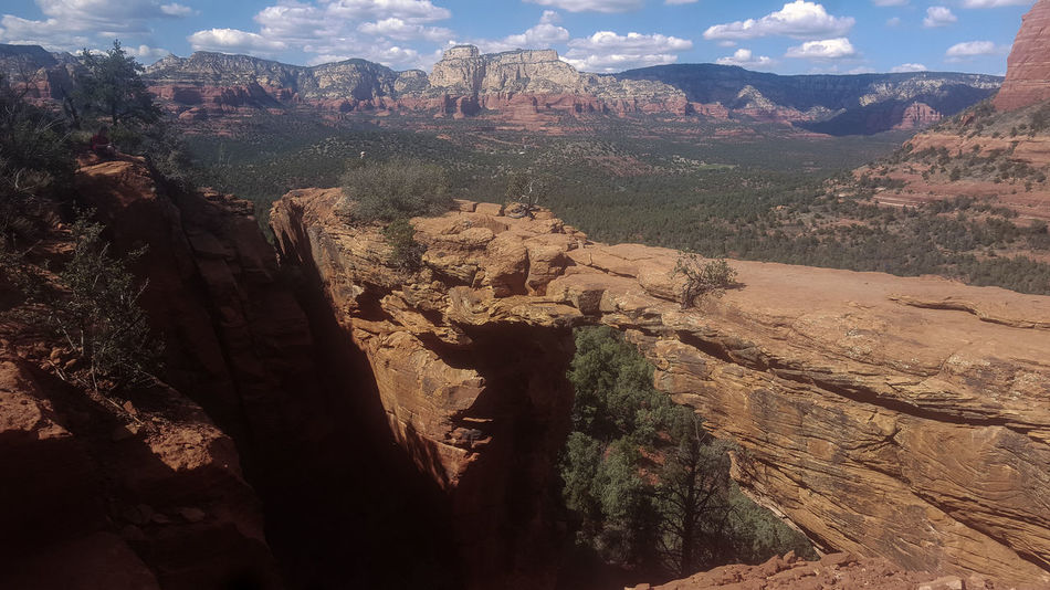 Arid Climate Beauty In Nature Devil's Bridge Extreme Terrain Landscape Mountain Mountain Range Nature Rough Sedona, Az Southwest  Sunlight Tourist Attraction  Tranquil Scene Tranquility Travel Destinations