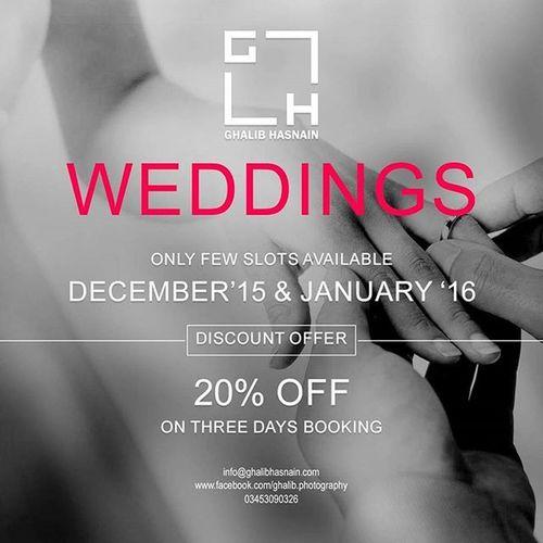 Ghalib Hasnain *~Weddings~* ****OFFER**** Weddingday  Weddingoffer Ghalibhasnainphotography Ghalibhasnain Karachi Lahore Dubai Islamabad Wppi2015 Weddingseason Wed Gh
