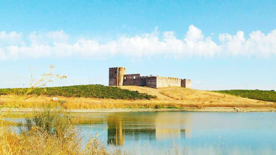 Valongo castle, south of Portugal Portugal Valongo Alentejo Landmarklake Reflection Water field Clouds clouds and sky