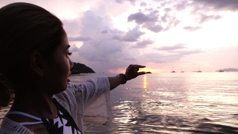 Sunset moment sSunsetbBeauty In NatureTTranquility