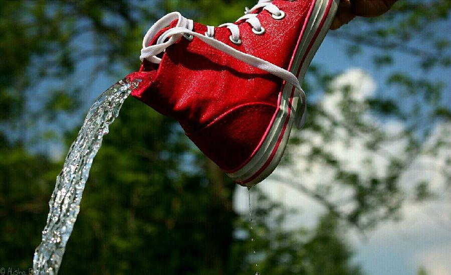 Shoes Water Madebyme Staffelsee Rot Chucks Schuhe  Wasser Canoneos450D First Eyeem Photo