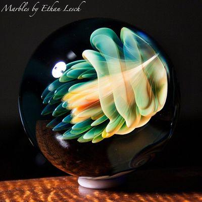 Jelly!!? Marble Jellyfish Boromarble BORo headyart headymarbles handmade headyglass glassmarble glass glassblowing mib ventura 805 ethanlesch