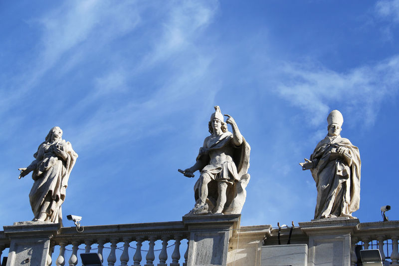 ArtWork Blue Sky Christianity Holy Place Italy Pope Rome Sculpture Statue Vatican VaticanCity White Clouds