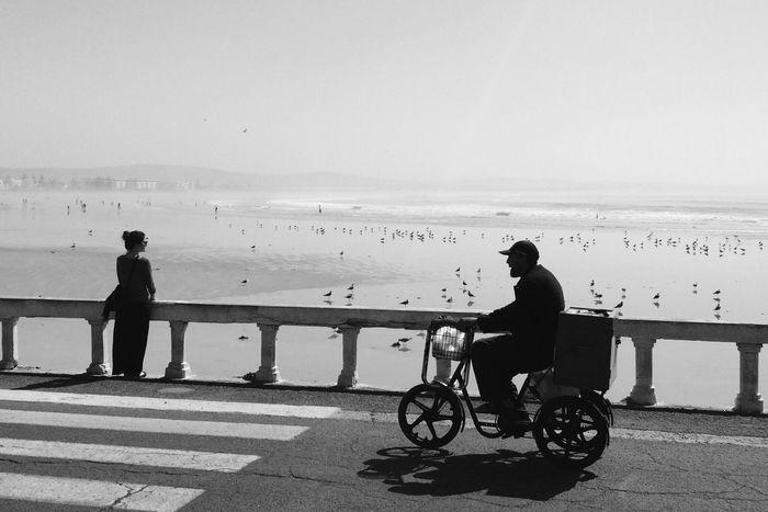 Essaouira Morocco Beach Silhouette Showcase: March Motocycle Mobylette Landscapes With WhiteWall The Street Photographer - 2016 EyeEm Awards On The Way